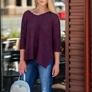 NWT Oversized Slouchy Hi-Lo Knit Sweater